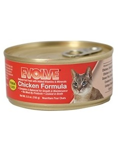 EVOLVE HUMEDOS CHICKEN CAT FOOD (Para todas las edades - Lata tipo pate - Pollo )