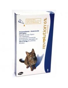Revolution 6% 0,75 ml - Perros y Gatos de 2,6 a 7,5 Kg